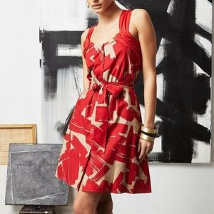 NWT! DOO RI Red Printed Size S Dress